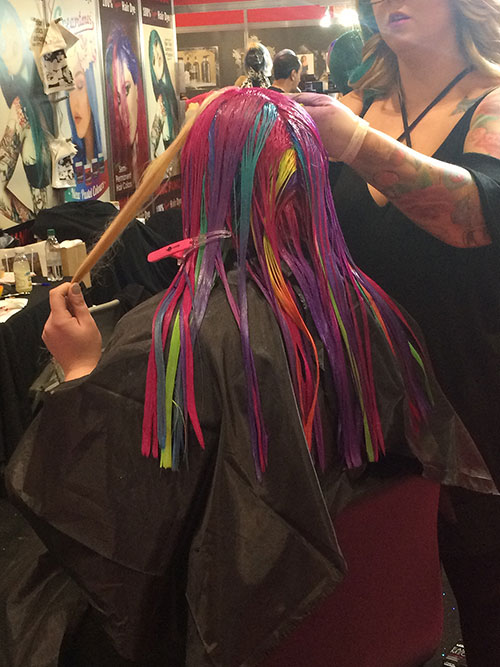 Colourful Hair Extensions